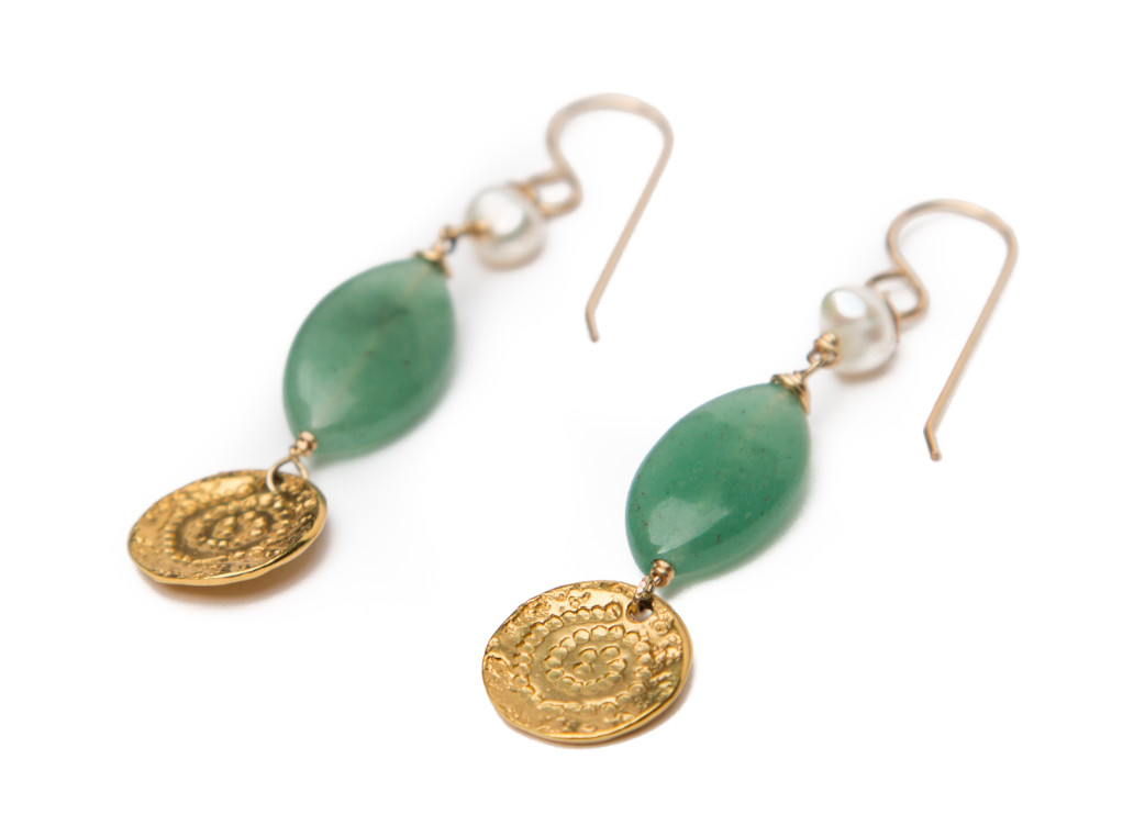 Athena Jade Earrings