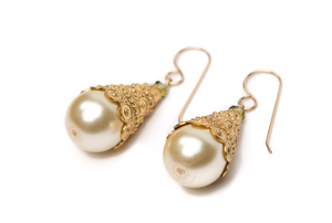 Gold cone earrings