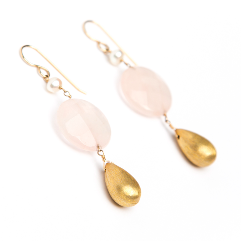 Rose Tear Earrings