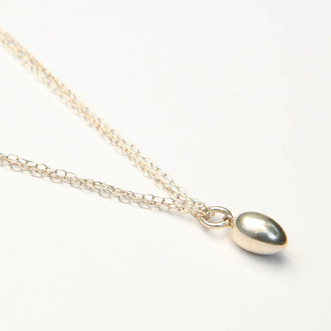 Solid Silver Egg Pendant