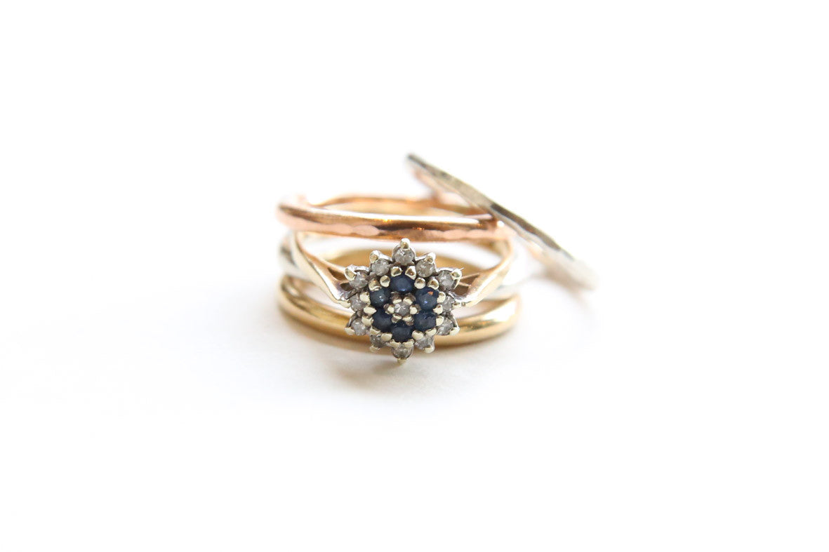 Vintage Sapphire Ring Stack