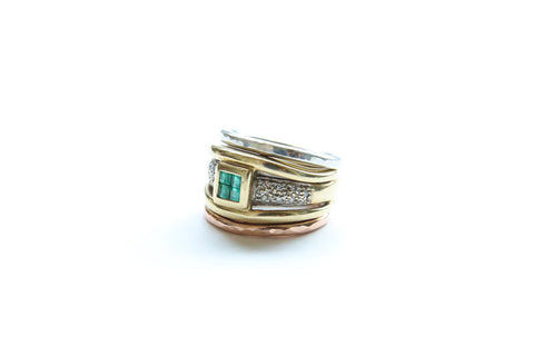Antique Emerald Stack ~ SOLD