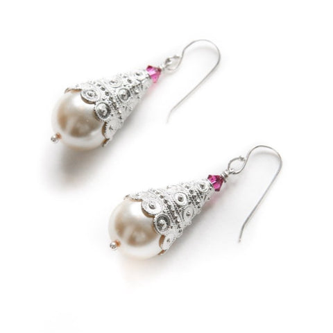 Silver Cone Earrings