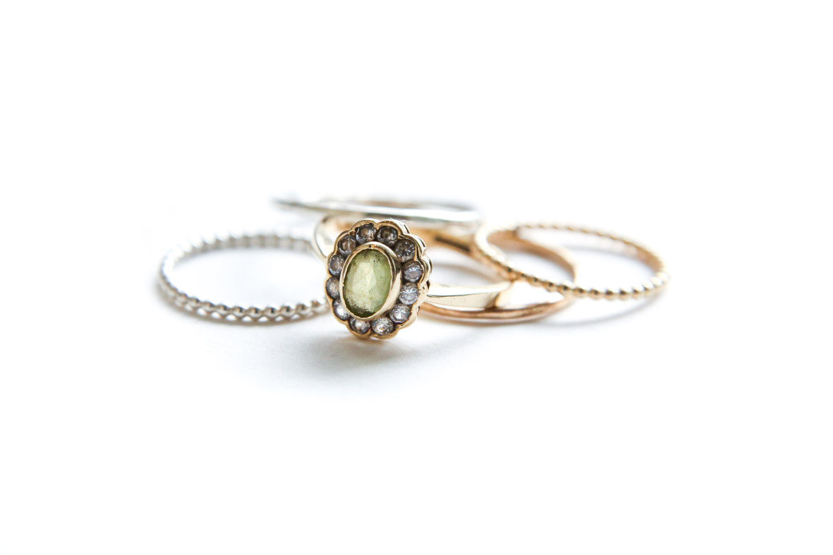 Vintage Peridot Stack ~ SOLD
