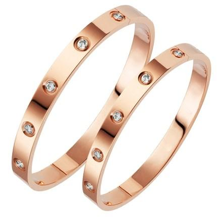 Stainless Steel Love Bracelet (Rose Gold)