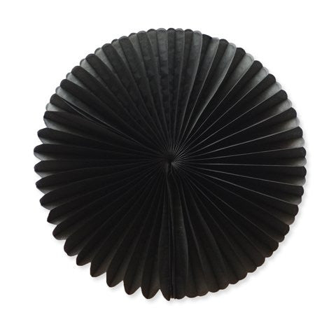 Paper fan 40cm black