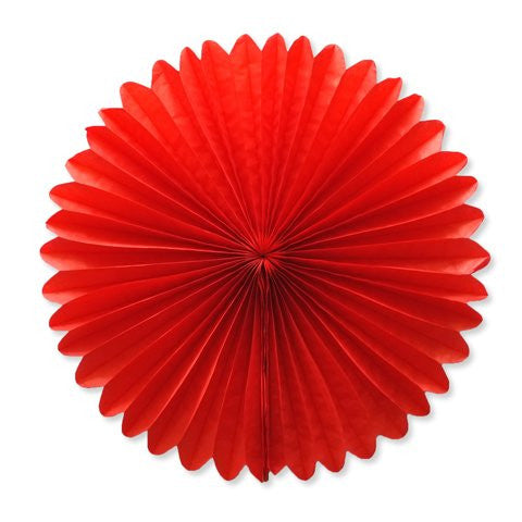 Paper fan 40cm red