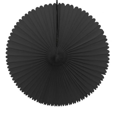 Paper fan 41cm black
