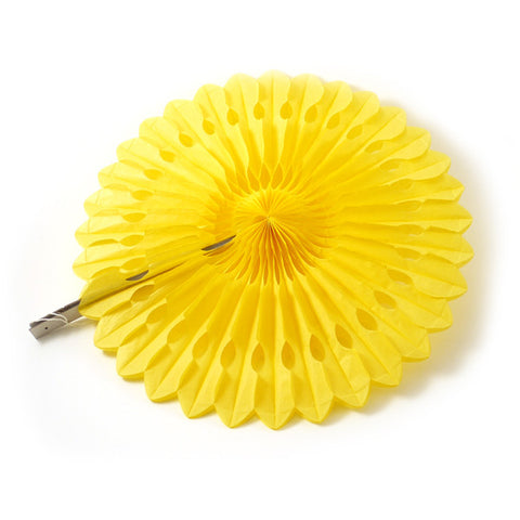 Paper fan 50cm yellow
