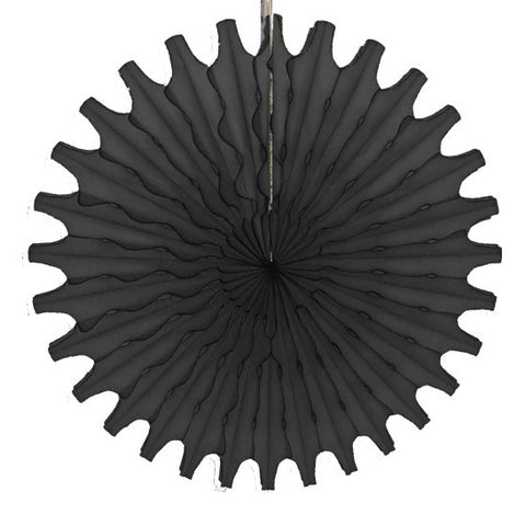 Paper fan 52cm black