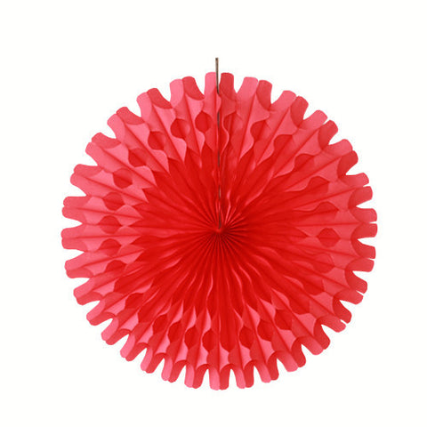 Paper fan 52cm red