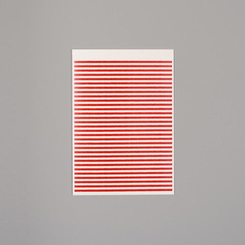 Red stripe card