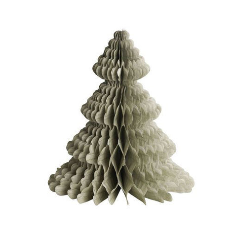 Paper Honeycomb Christmas Tree - Grey