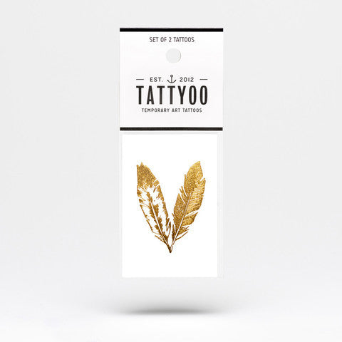 Tattoos - Gold feathers