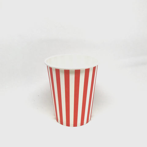 Red stripe cups