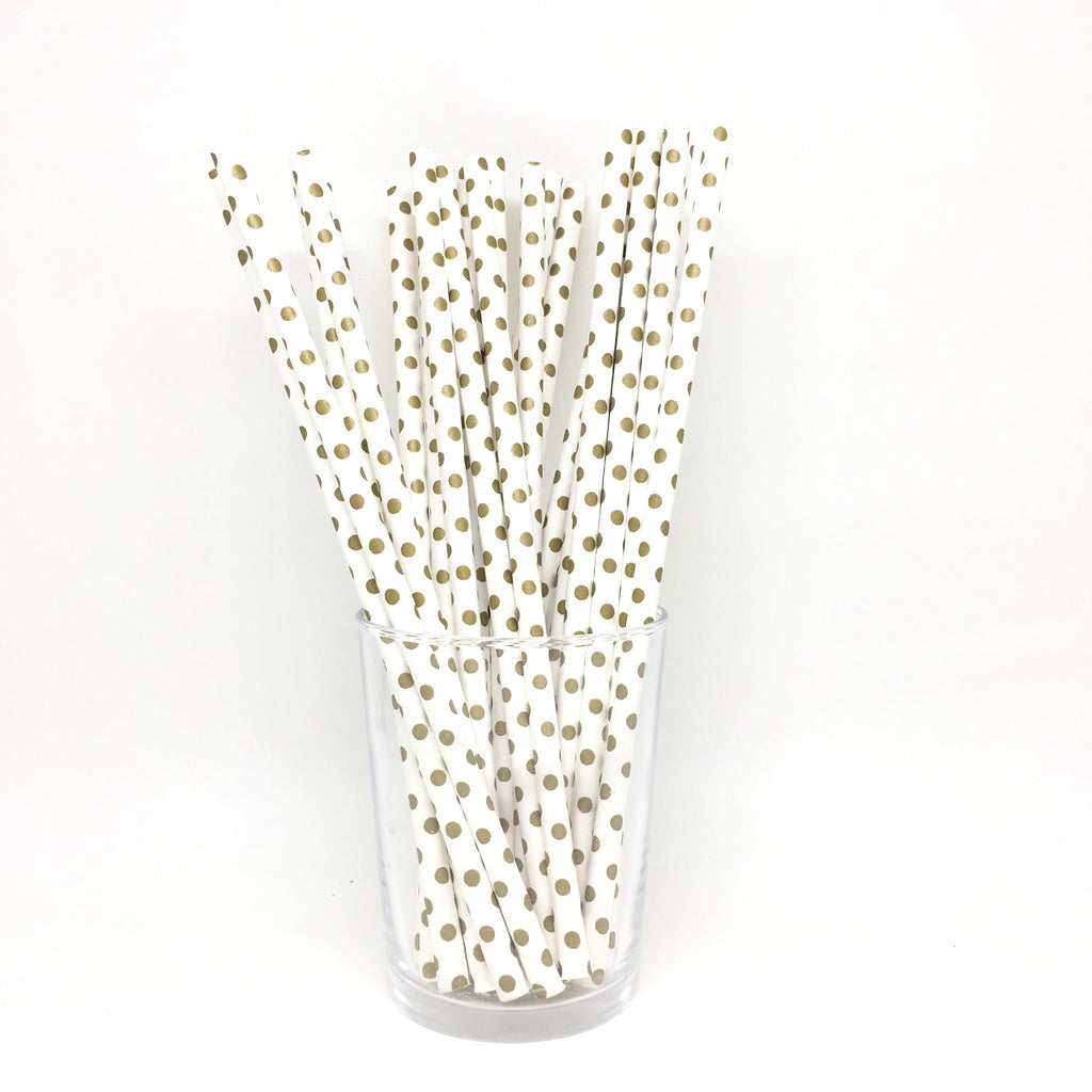 Gold dots straws