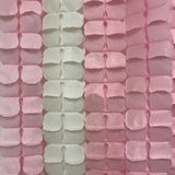 Four leaf clover garland light pink