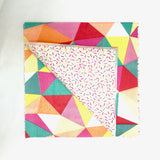 Triangles and sprinkles napkins