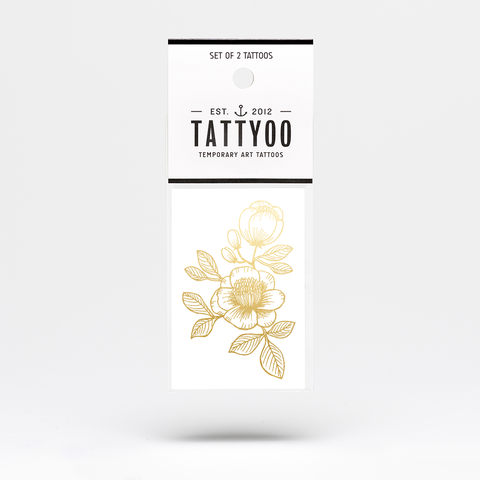 Tattoos - Gold floral