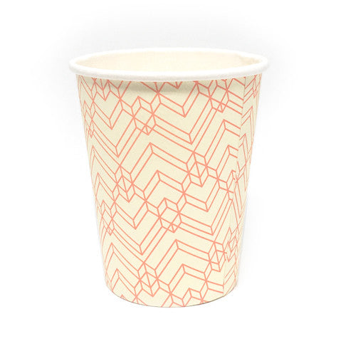 Orange pattern cups
