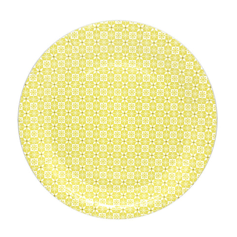 Yellow Pattern plates