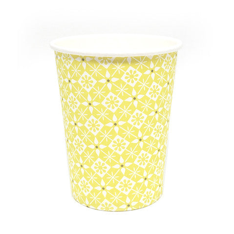 Yellow pattern cups