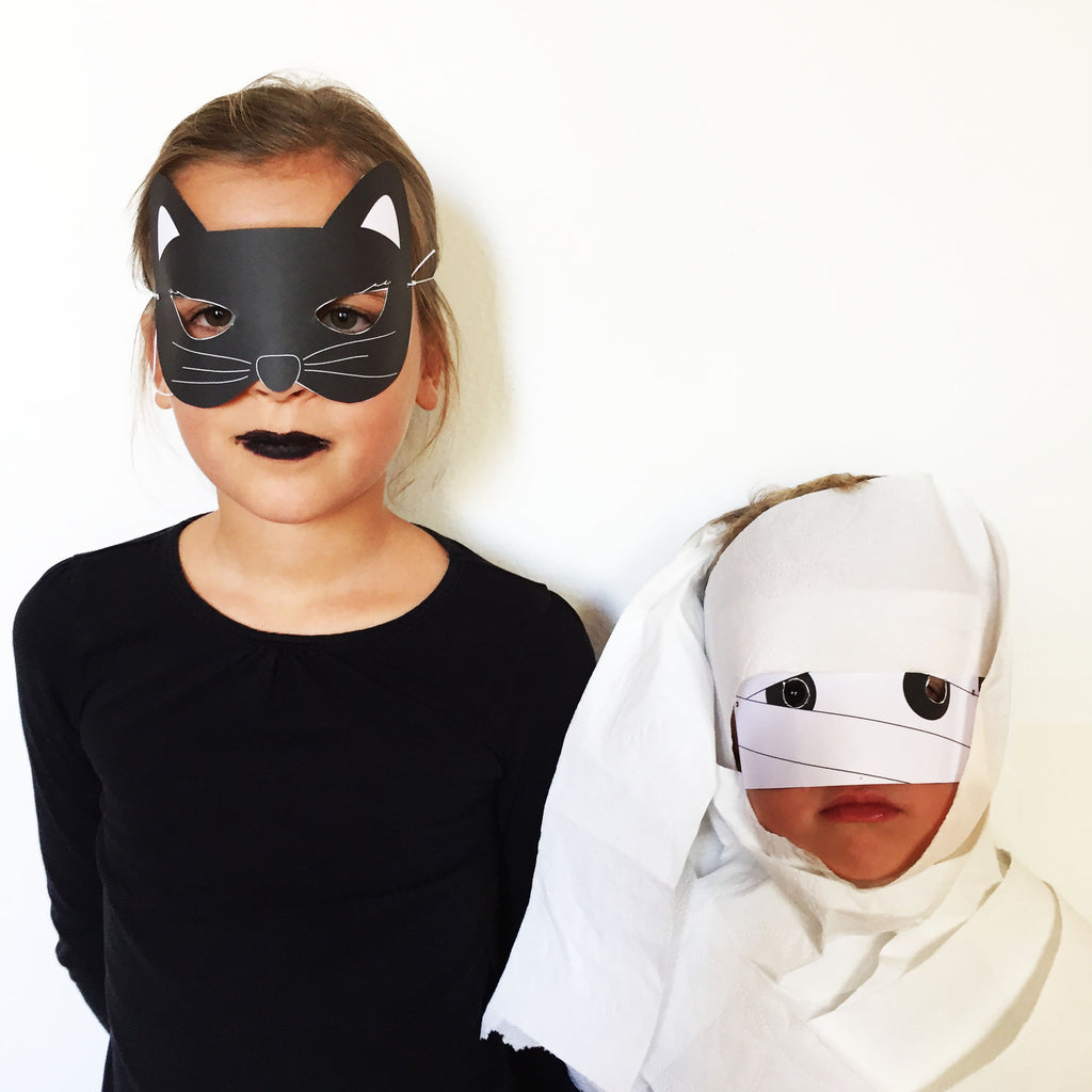 photograph relating to Free Printable Halloween Masks identified as Absolutely free PRINTABLE HALLOWEEN MASKS partystudio