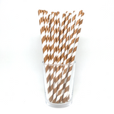 Brown stripe straws