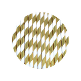 Gold foil stripe straws