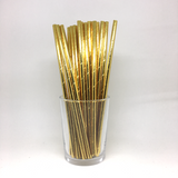 Plain gold foil straws