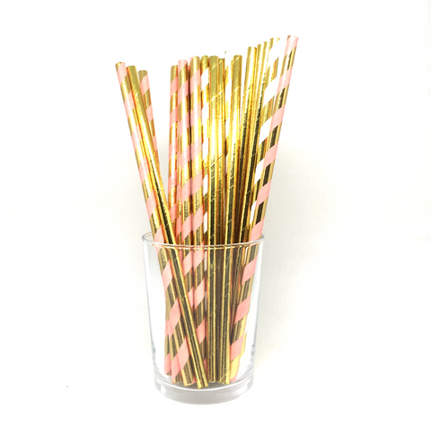 Flamingo mix straws