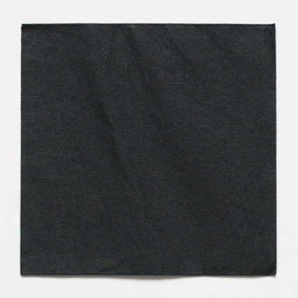 Solid black napkins