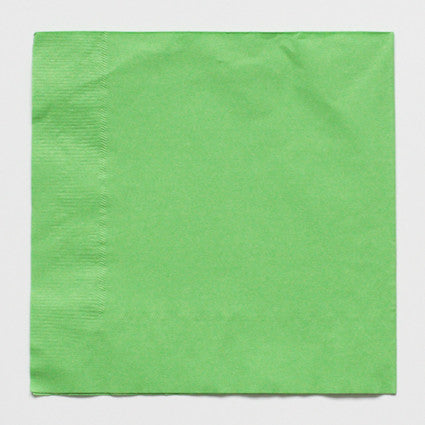 Solid light green napkins