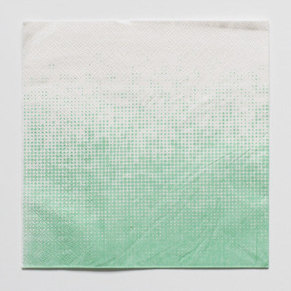Green pattern napkins