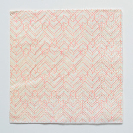 Orange pattern napkins