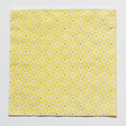 Yellow pattern napkins