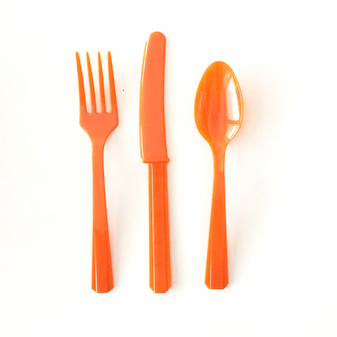 Orange cutlery set