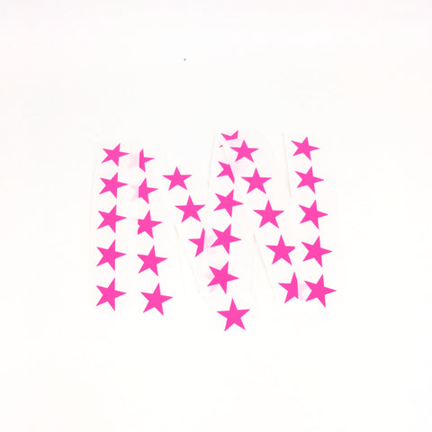 Star stickers - neon pink
