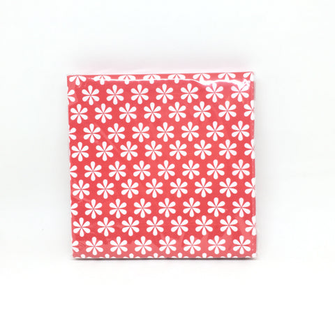 Red flowers napkins