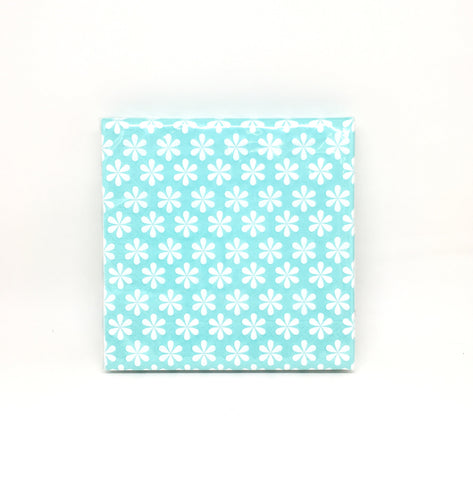 Blue flowers napkins