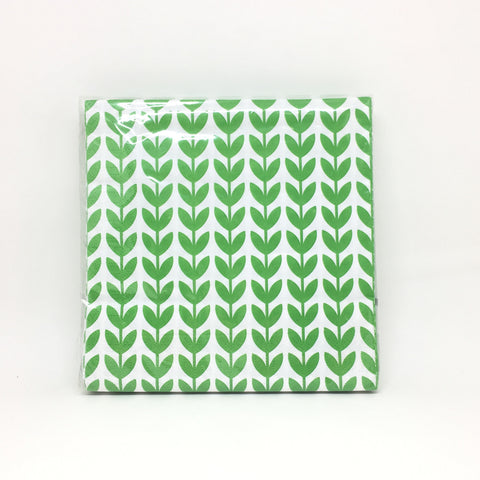 Green flowers napkins