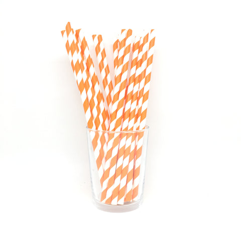 Orange stripes straws