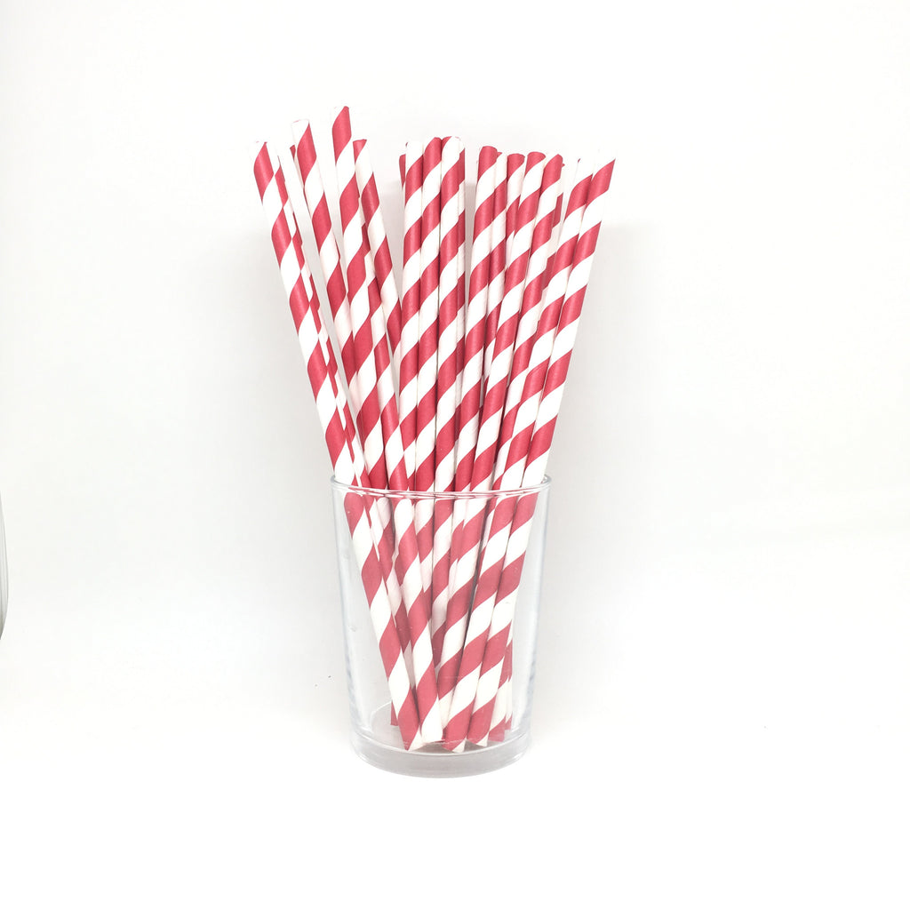 Red stripes straws