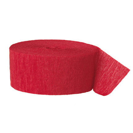 Crepe paper streamer red