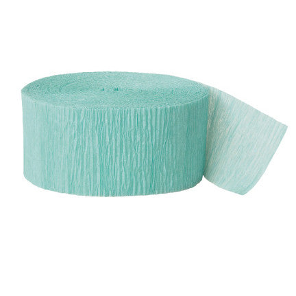 Crepe paper streamer sea foam