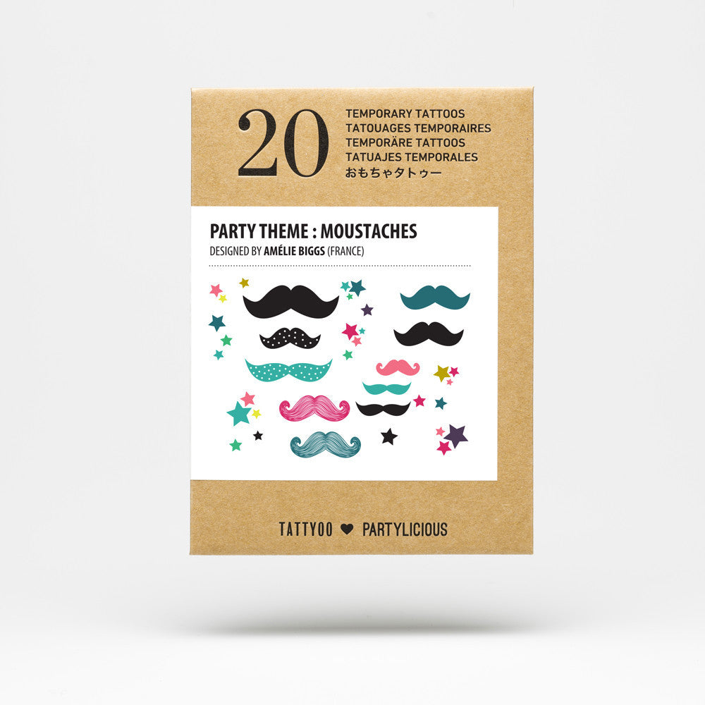 Party tattoos⎟MOUSTACHES