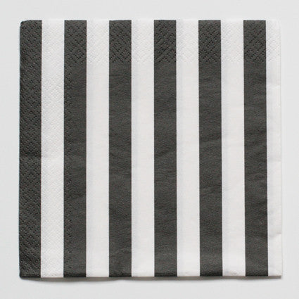 Stripe black and white napkins
