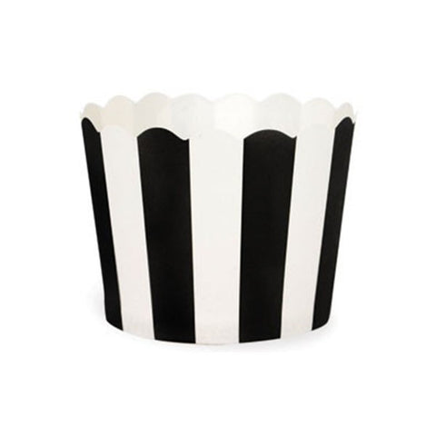 Stripe black candy cups