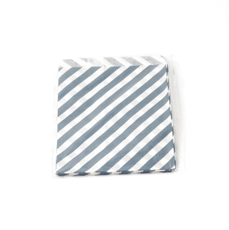 Stripe blue party bag