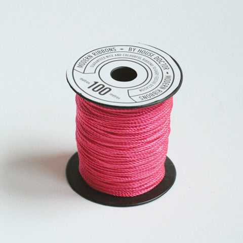 Neon pink twine
